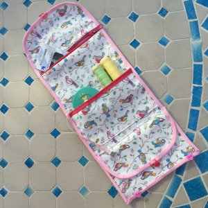 Cath Kidston bird fabric sewing tidy