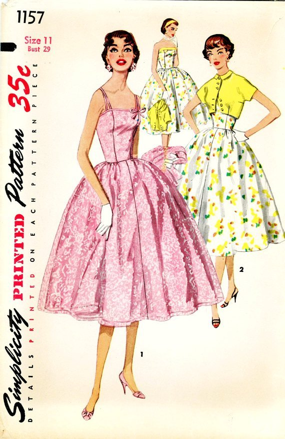 40's Sewing Patterns A Brief History Lizzy's Homemade Unique Vintage Dress Patterns 1950s
